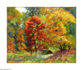 Texas:Early Texas Art - Impressionists, Emma Richardson Cherry (1859-1954) Glory of Autumn, 1917 Oil oncanvas 16 x 20in. Signed lower left: E. Richardson Che...