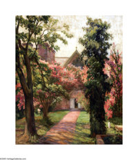 Emma Richardson Cherry Christ Church Cathedral, Houston, Texas, c.1920s Oil on canvas 30 x 25in. Signed center right:...