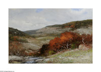 Robert Wood (1889-1979) Scarlet Oaks, c.1960s Oil on canvas 24 x 36in. Signed lower right: Robert Wood