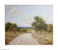Texas:Early Texas Art - Impressionists, Porfirio Salinas (1910-1973) Hill Country Road Oil on canvas 24 x30in. Signed lower right: P. Salinas...