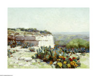 Julian Onderdonk (1882-1922) Prickly Pear in Blossom Oil on canvas 9 x 12in. Signed lower left: Julian Onderdonk