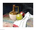 Texas:Early Texas Art - Impressionists, Reveau Bassett (1897-1981) Jug and Fruit Oil on canvas board 16 x20in. Signed lower left: Reveau Bassett Provenanc...