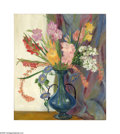 Texas:Early Texas Art - Regionalists, Louise M. Goldstein (1899-1991) Gladiolas & Morning Glories Oil on canvas 32 x 28in. Signed center right: L.M. Goldste...