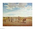 Texas:Early Texas Art - Regionalists, Ben Carlton Mead (1902-1986) Cemetary at Old Tascosa on theCanadian River, West, TX, 1939 Oil on canvas 30 x 38in. Titl...