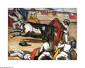 Texas:Early Texas Art - Regionalists, Merritt Mauzey (1897-1973) Death of a Bullfighter, 1943 Oil oncanvas 19 x 25in. Signed lower left: Mauzey '43...