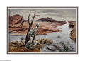 Texas:Early Texas Art - Regionalists, William Lester (1910-1991) The River Bend, c.1940 Watercolor onpaper 24 x 30in. Signed verso: WM. Lester (S.L.) Pr...