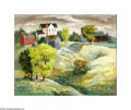 Texas:Early Texas Art - Regionalists, Bror Utter (1913-1993) Untitled Landscape, c.late 1930s-40s Oil onmasonite 16 x 20in. Signed lower right: Bror Utter ...