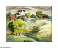 Bror Utter (1913-1993) Untitled Landscape, c.late 1930s-40s Oil on masonite 16 x 20in. Signed lower right: Bror Utter&am...