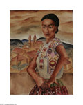 Paintings, Kelly Fearing (1918- ). Mexican Blouse, 1939. Oil on canvas board mounted on stretcher. 18 x 24in.. Signed lower left: ... (Total: 1 Item Item)
