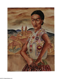 Kelly Fearing (1918- ) Mexican Blouse, 1939 Oil on canvas board mounted on stretcher 18 x 24in. Signed lower left: