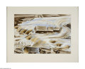 Paintings, Alexandre Hogue (1898-1994). Osage Stream, 1961. Watercolor on paper. 20 x 29in. (sight). Signed lower right: Alexandre Ho...