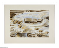 Alexandre Hogue (1898-1994) Osage Stream, 1961 Watercolor on paper 20 x 29in. (sight) Signed lower right: Alexandre Ho...