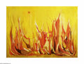 Texas:Early Texas Art - Modernists, Henry Gadbois Fire with Sun, 1958 Oil on canvas 52 x 38in. Signedlower right: Henry Gadbois '58...