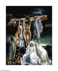 Texas:Early Texas Art - Modernists, Xavier Gonzalez (1898-1993) Golgotha, 1987 Oil on linen 50 x 40in.Signed lower right: X.G. Signed and titled verso...
