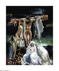 Xavier Gonzalez (1898-1993) Golgotha, 1987 Oil on linen 50 x 40in. Signed lower right: X.G. Signed and titled verso