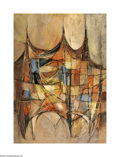Texas:Early Texas Art - Modernists, Chester Toney Untitled, 1958 Oil on paper 42 x 30in. Signed lowerright: Toney '58 ...