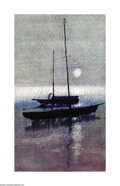 Paintings, Paul Maxwell (1925- ) Sailboat Oil on canvas 40 x 24in. Signed lower left: P. Maxwell ...