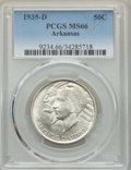 Commemorative Silver, 1935-D 50C Arkansas MS66 PCGS. PCGS Population: (225/48). NGC Census: (111/25). CDN: $350 Whsle. Bid for problem-free NGC/P...