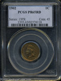 "Proof Indian Cents: , 1902 1C PR 65 Red PCGS. The current Coin Dealer Newsletter (Greysheet) wholesale ""bid"" price is $870.00...."