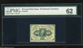 Fractional Currency:First Issue, Fr. 1240 10c First Issue PMG Uncirculated 62. This perforatedFriedberg number is ten times scarcer than its straight edge c...