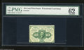 Fractional Currency:First Issue, Fr. 1241 10c First Issue PMG Uncirculated 62. This is a scarce perforated, no ABC monogram variety. This note is 30 times sc...