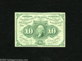 Fractional Currency:First Issue, Fr. 1242 10c First Issue Choice New. A very well margined example of this straight edge with monogram type note. The paper ...