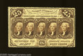 Fractional Currency:First Issue, Fr. 1280 25c First Issue About New. Chocolate brown ink adds to thedesirability of this perforated note that has its perfor...