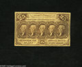 Fractional Currency:First Issue, Fr. 1281 25c First Issue Fine. Even circulation is found on this Fractional....