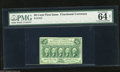 "Fractional Currency:First Issue, Fr. 1312 50c First Issue PMG Choice Uncirculated Net 64. PMG comments ""adhesive residue on back.""..."