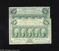 Fractional Currency:First Issue, Fr. 1312 50c First Issue Two Examples New, Choice New. The higher grade example has retained its dark green ink. ... (2 notes)