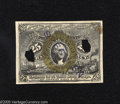 "Fractional Currency:Second Issue, Milton 2E25F.6 25¢ Second Issue Experimental Choice New. This Experimental with a bronze oval is rubber stamped ""SPECIMEN,"" ..."