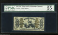 "Fractional Currency:Third Issue, Fr. 1364 50c Third Issue Justice PMG About Uncirculated 55. ""Vivid details"" is announced by PMG concerning this attractive J..."