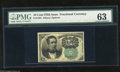 Fractional Currency:Fifth Issue, Fr. 1264 10c Fifth Issue PMG Choice Uncirculated 63. All fourmargins are at least 1mm wide on this Green Seal Meredith....