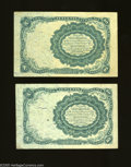 Fractional Currency:Fifth Issue, Fr. 1265 10c Fifth Issue VF Fr. 1266 10c Fifth Issue XF. The Fr.1265 has an approximate quarter inch tear, while the ... (2 notes)