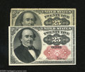 Fractional Currency:Fifth Issue, Fr. 1308 25c Fifth Issue Fine Fr. 1308 25c Fifth Issue Choice New.Both key varieties are found within this lot. ... (2 notes)