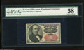"""Fractional Currency:Fifth Issue, Fr. 1309 25c Fifth Issue PMG Choice About Unc 58. All four marginsare over 1mm on this note. In fact, PMG comments """"great m..."""