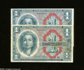 Military Payment Certificates:Series 611, Series 461 $1 Two Examples Fine, About New. A couple of corner tip folds are found on the higher grade note. ... (2 notes)