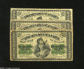 Canadian Currency: , DC1a 25¢ 1870 VG DC1b-i 25¢ 1870 Good DC1c 25¢ 1870 VG The threemajor varieties are contained within this lot th... (3 notes)