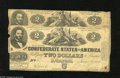 Confederate Notes:1862 Issues, T42 $2 1862 Two Examples. A First and Third Series notes are inthis lot. The First Series grades Good-VG, while the Thi... (2notes)