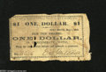 Obsoletes By State:Arkansas, Fort Smith, AR- E.S. Mitchell $1 May 1, 1862 This scrip was also redeemable at Doaksville and Boggy Depot, CN (Choctaw Nati...