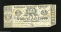Obsoletes By State:Arkansas, Little Rock, AR $3 April 4, 1862 Criswell 49a This $3 is printed on white paper with green printing on the back. Fine....