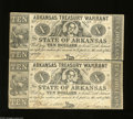 Obsoletes By State:Arkansas, Little Rock, AR $10 Uncut Pair April 11, 1862 Criswell 54 Highly unusual to find an uncut pair among this state issue. Fi...