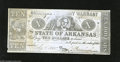 Obsoletes By State:Arkansas, Little Rock, AR $10 Feb. 6, 1863 Criswell 56c This blue $10 is uniface. The top center also shows a weak printing. Fine-V...