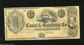 Obsoletes By State:Louisiana, New Orleans, LA- Canal & Banking Co. $100 18__ This is the variety with the unprinted back. Choice Crisp Uncirculated....