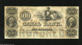 Obsoletes By State:Louisiana, New Orleans, LA- Canal Bank $100 18__ The central vignette of this note would later be used on Confederate T37s. Choice C...