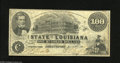 Obsoletes By State:Louisiana, Shreveport, LA- State of Louisiana $100 Mar. 10, 1863 This Fine note is without edge tears and pinholes, but the back u...