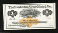 Obsoletes By State:Nevada, Austin, NV- Manhattan Silver Mining Co. $1 187_ This $1 bearer check has a bird's eye view vignette of Austin, NV along wit...