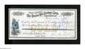 Obsoletes By State:Nevada, Carson City, NV- Carson City Savings Bank $100 Check Dec. 18, 1876 This check is payable in gold. A half a dozen or so edge...