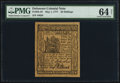 Colonial Notes:Delaware, Delaware May 1, 1777 20s PMG Choice Uncirculated 64 Net.. ...