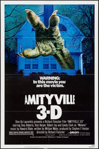 """Amityville 3-D & Others Lot (Orion, 1983). One Sheets (2) (27"""" X 41""""), Photos (9) (8"""" X 10"""") &am..."""